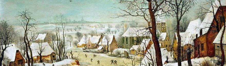 Зимний пейзаж с ловушкой для птиц 1565