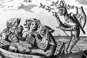 The Ship of Fools, Engraved by Pieter Ven Der Heyden, 1559