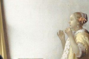 Ян Вермеер – Женщина с жемчужным ожерельем 1662-65